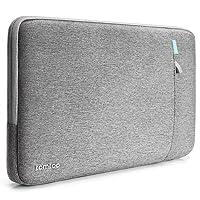 tomtoc Housse de Protection à 360° compatible avec 13 pouces Nouveau MacBook Pro 2016 late - 2018 (A1989/A1706/A1708)  Dell xps 13 Antichoc Pochette 11.6 Pouces HP Acer ASUS Samsung Chromebook   Tablette, Gris
