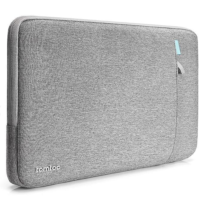 Tomtoc Custodia Protettiva a 360° per 13.3 Pollici MacBook Air   13 Pollici MacBook Pro Retina 2012-2015  12.9'' iPad Pro 13.5 Pollici Surface Laptop, Borsa Protettiva Antiurto Impermeabile, Grigio