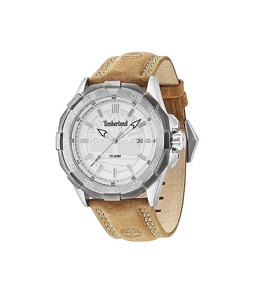 Timberland 14098JSTU/04 - Reloj para hombres, correa de cuero color beige