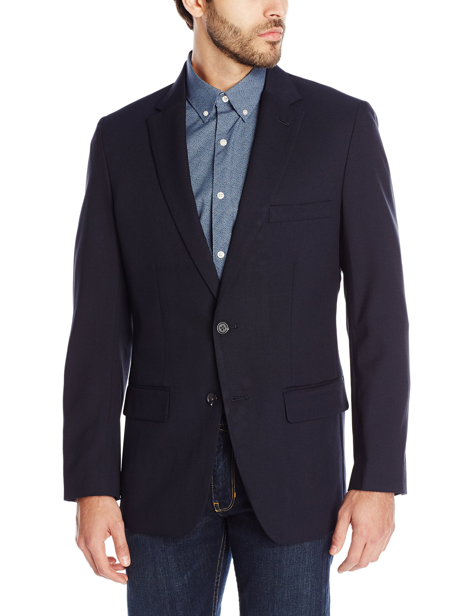 Haggar Clothing Men's Tailored Fit In Motion Blazer - 38 Regular - Midnight