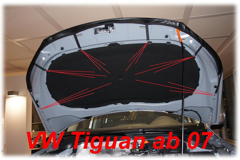 CARBON OPTIK AB-00729 BRA f/ür Tiguan 2007-2016 Haubenbra Steinschlagschutz Tuning Bonnet Bra
