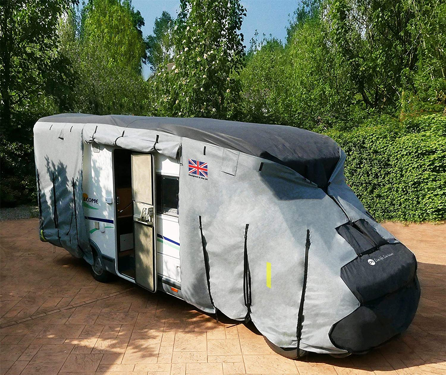 Leisure Depot 4 Ply Waterproof Breathable Premium Motorhome Cover 7.0M to 7.5M
