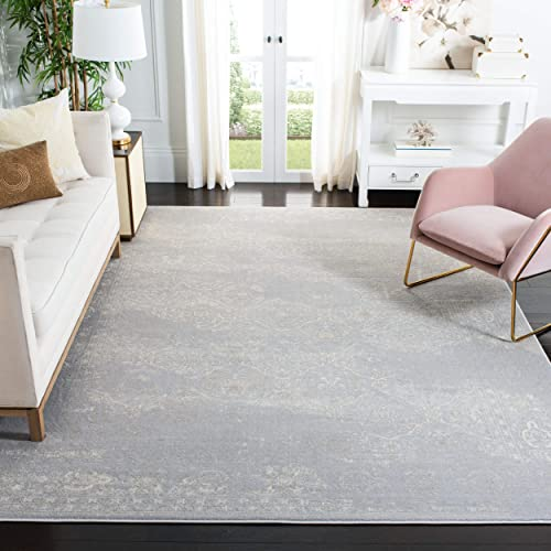 Safavieh Carnegie Collection CNG691G Vintage Light Grey and Grey Distressed Area Rug 9 x 12