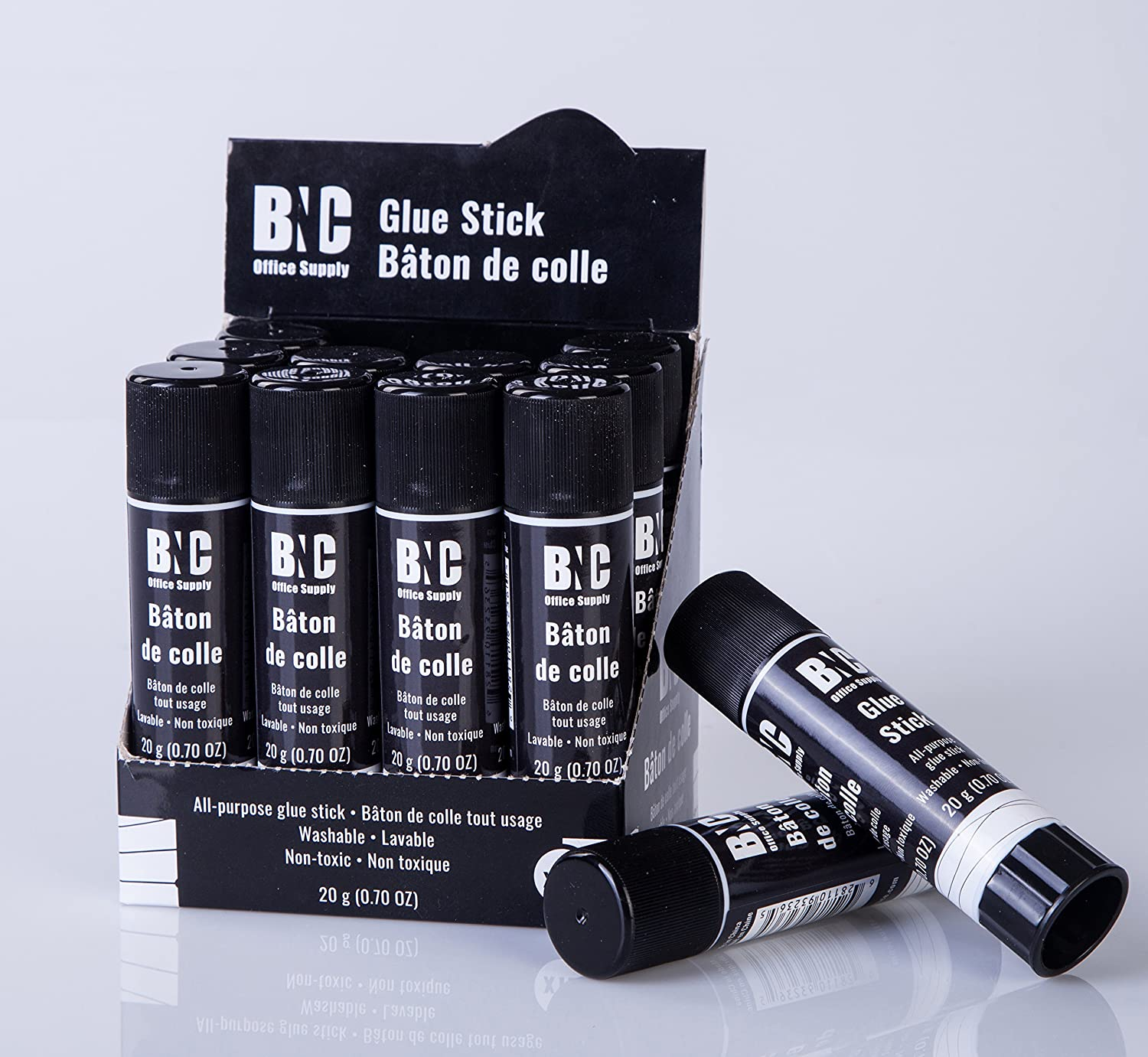 BNC Washable All-Purpose School Glue Stick, 0.7 Ounce Sticks, Pack of 12 BNC Office Supply