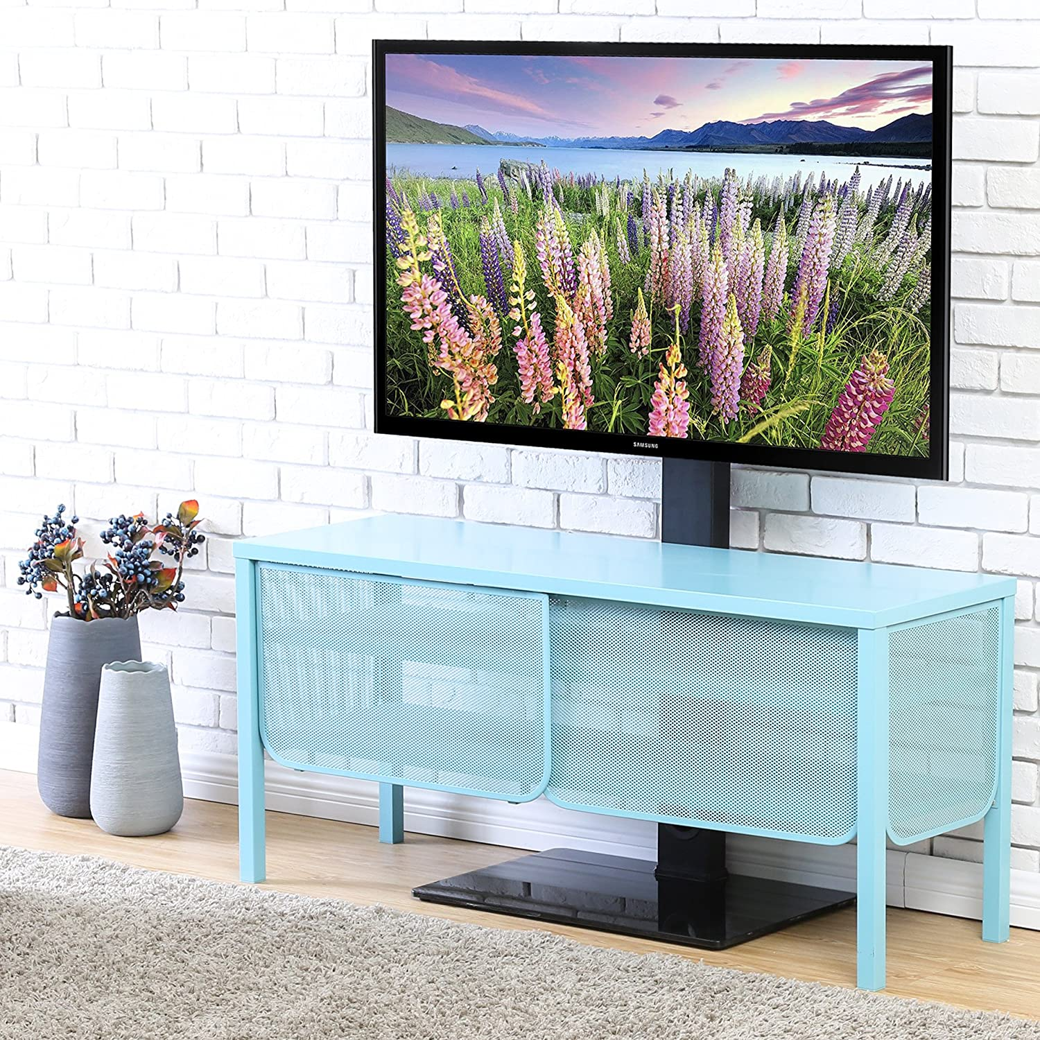 Amazon.com: FITUEYES Universal TV Stand Base With Swivel Mount ...