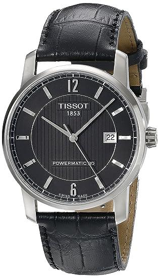 e573a7abef36 Tissot Men  s t0874074605700 analógico con movimiento automático suizo  negro reloj