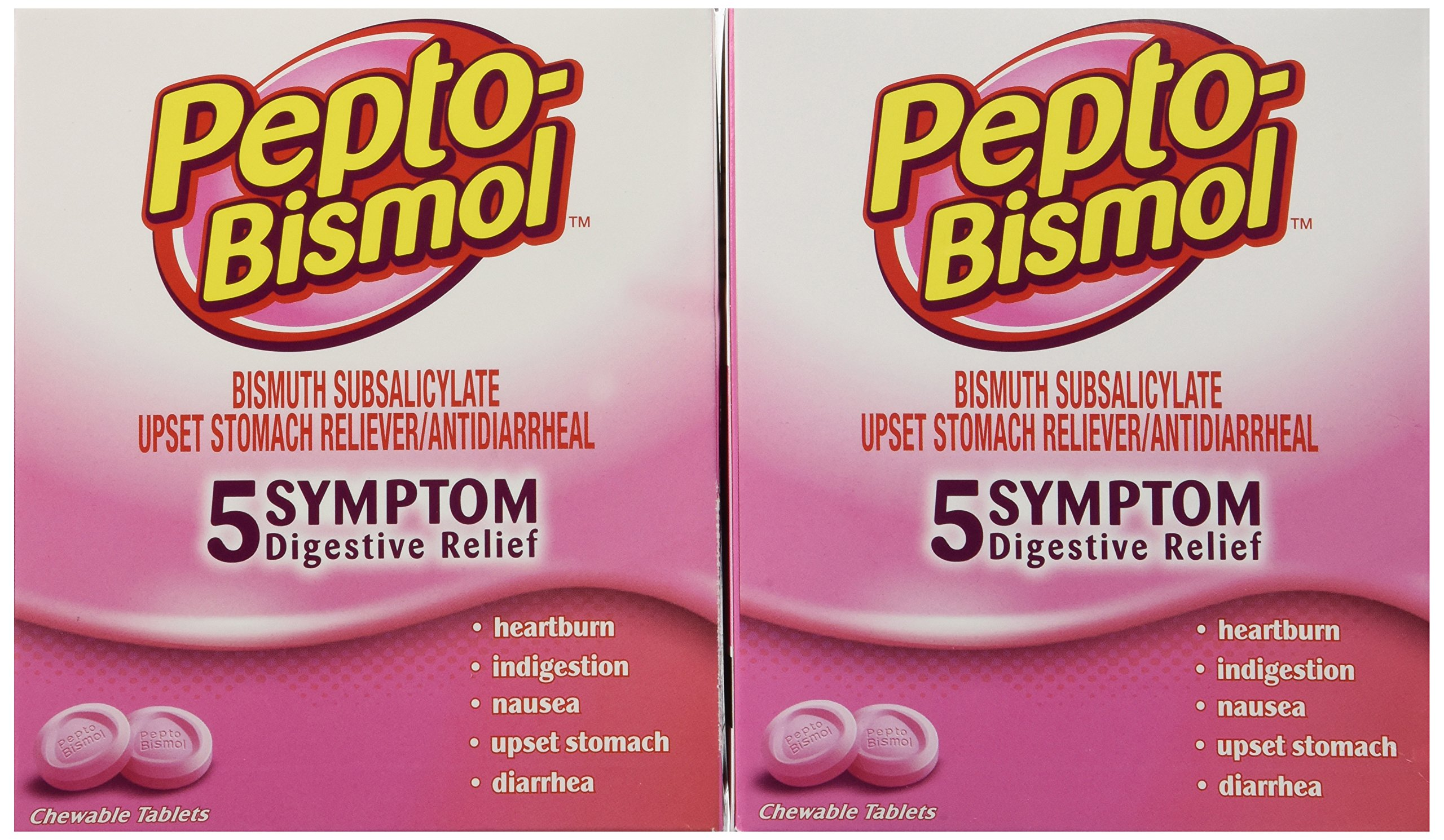 Pepto Bismol Individual Sealed, 50 Count (Pack of 2)