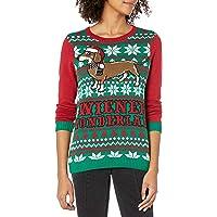 Ugly Christmas Sweater Juniors Wiener Wonderland Pullover