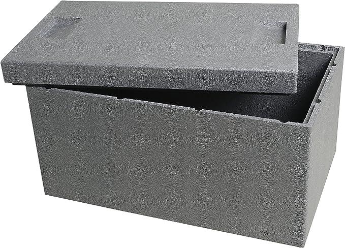 Caja térmica de Climapor. Caja, gris, grande. Volumen: 35 l: Amazon.es: Bricolaje y herramientas