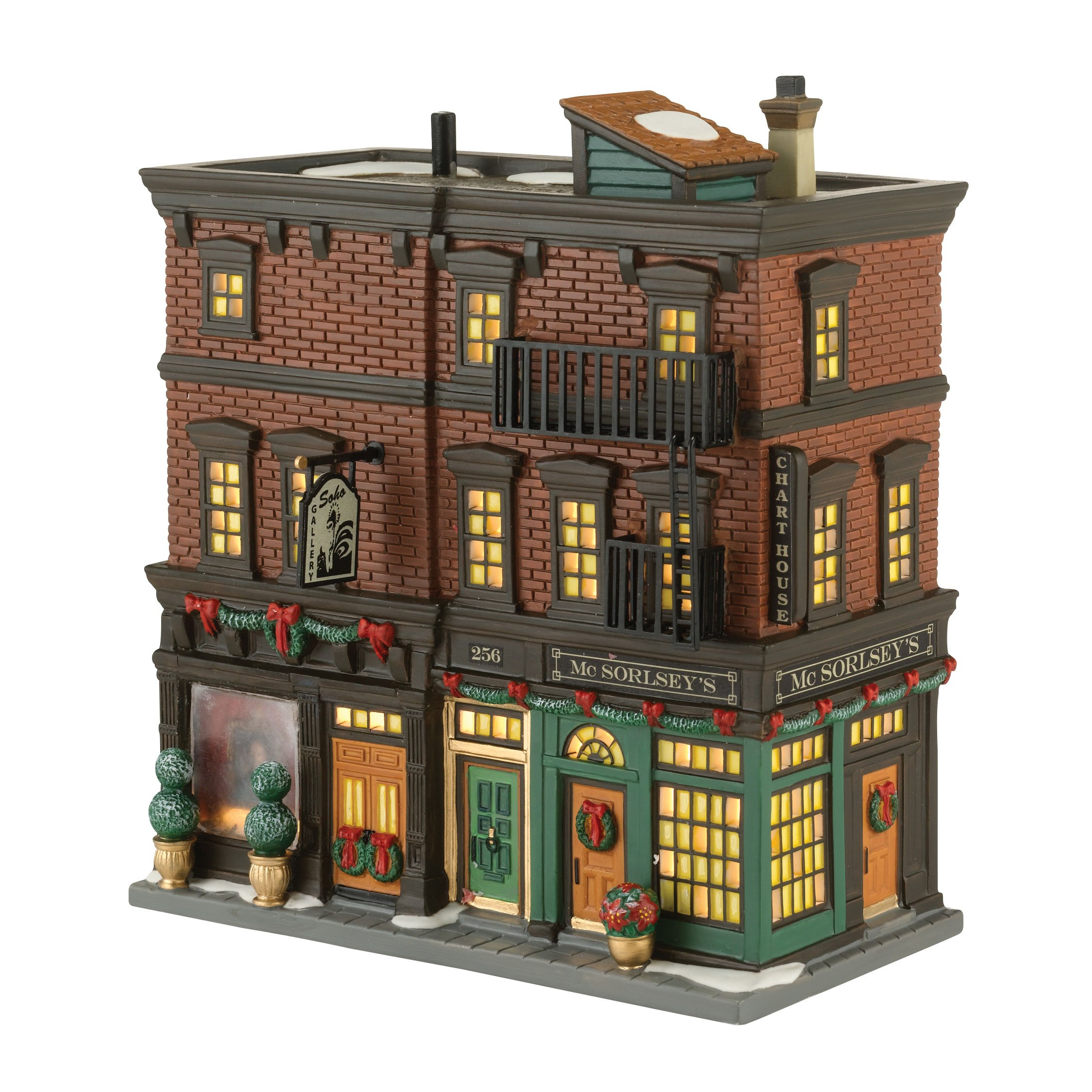 Department 56 Christmas in the City Village Soho Shops Lit House, 7.67 inch by Department 56