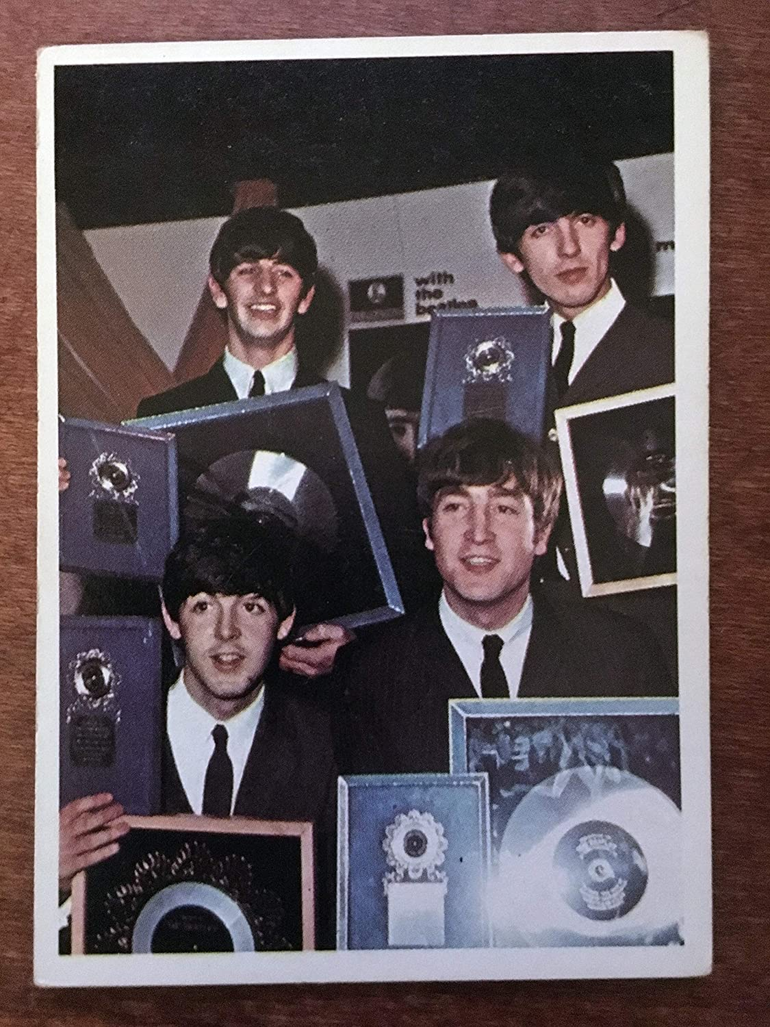 Beatles Topps Card 6 Color Series 1965 All Four Beatles Shown John Lennon Ringo Starr George Harrison And Paul Mccartney Excellent Condition All Of Our Cards Will Be In A Clear Collectors