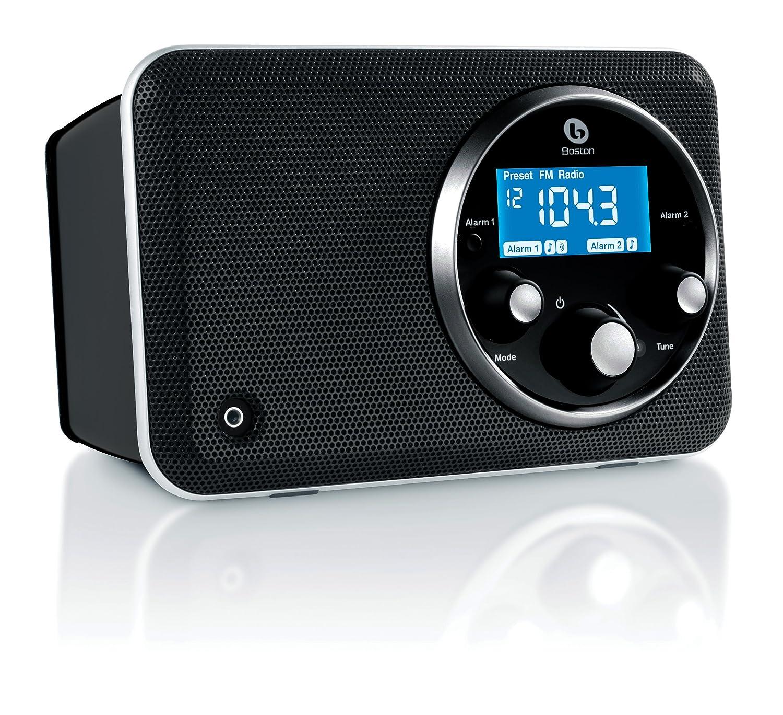 Boston Acoustics Solo Ii Am Fm Radio With Clock Gloss Black Jammer Electronics