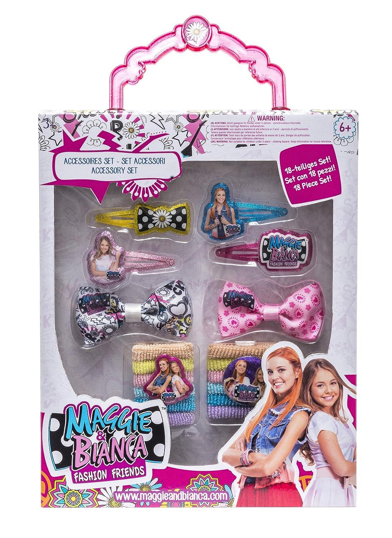 Maggie and Bianca Set Accessori, 18 Pezzi per Bambini, 65925 Joy Toy