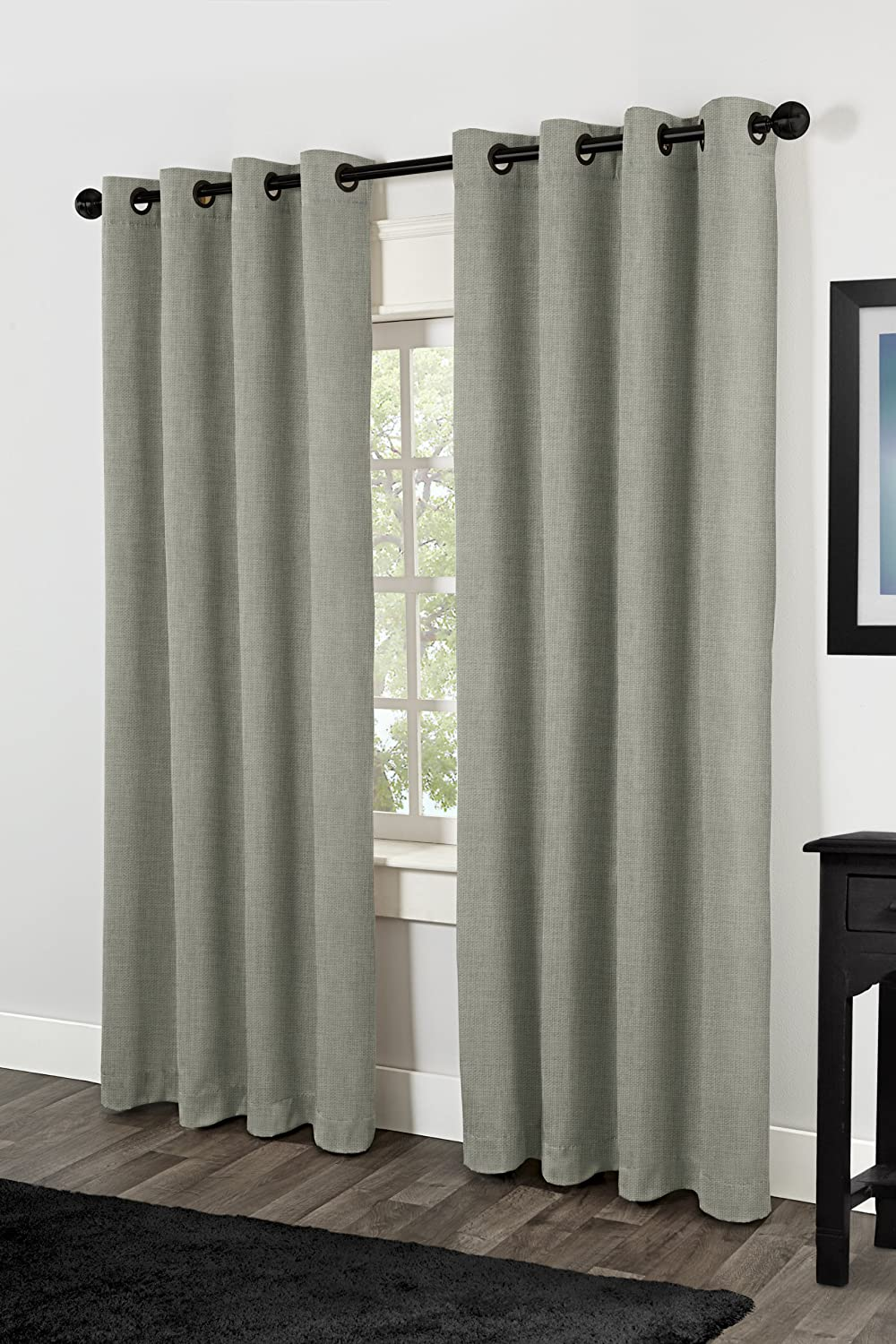 Amazon.com: Exclusive Home Rita Heavyweight Textured Linen Look ...