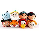 US Disney Parks Aladdin Tsum Tsum Complete Set of 8 Mini 3.5