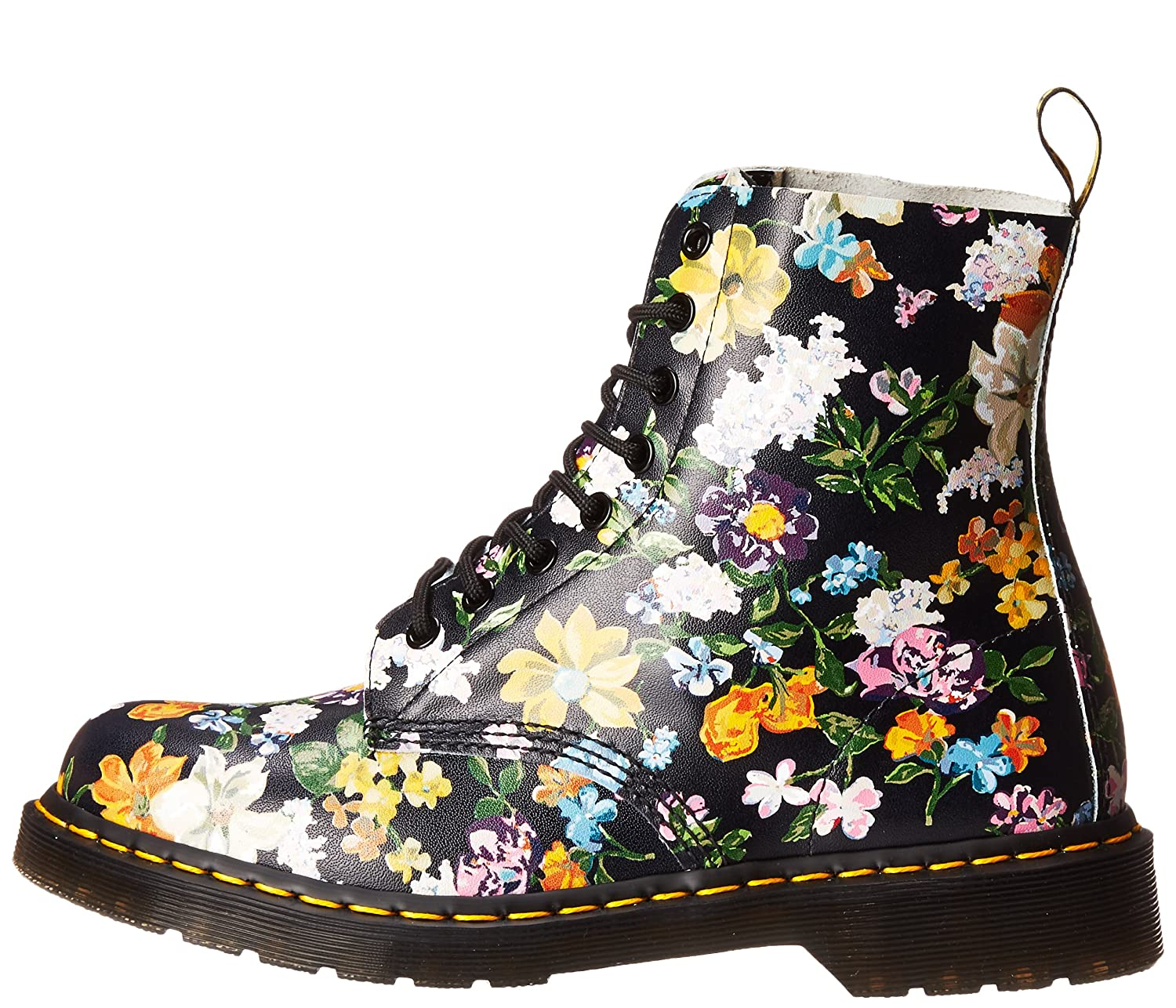 Dr. Martens Women's Darcy Floral Pascal DF Ankle Boot B07356SS7S 8.5 B(M) US|Black
