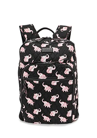 4e148381facd Fanloli Quilted Cotton College Student Campus Children Travel Backpack in  Happy Elephant