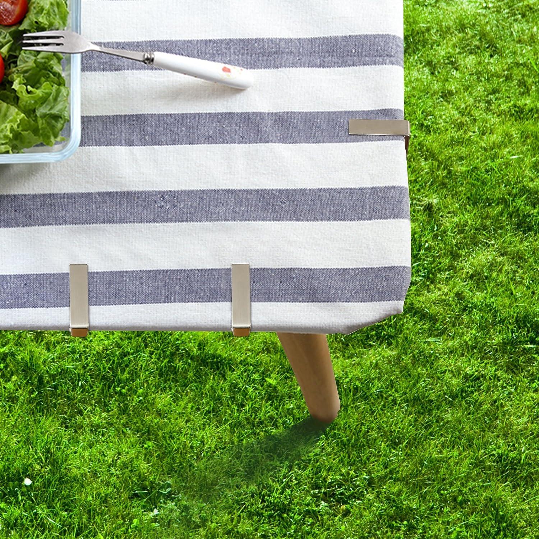 10 Stück Tischtuchklammer Tischtuchklammern Edelstahl für Party Hochzeit Event