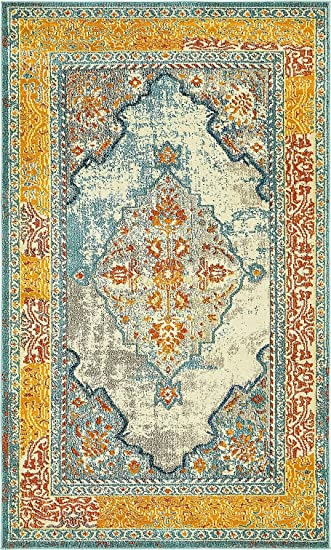 7c0ca2b51db Image Unavailable. Image not available for. Color  A2Z Rug Modern  Contemporary   Traditional Design Rugs
