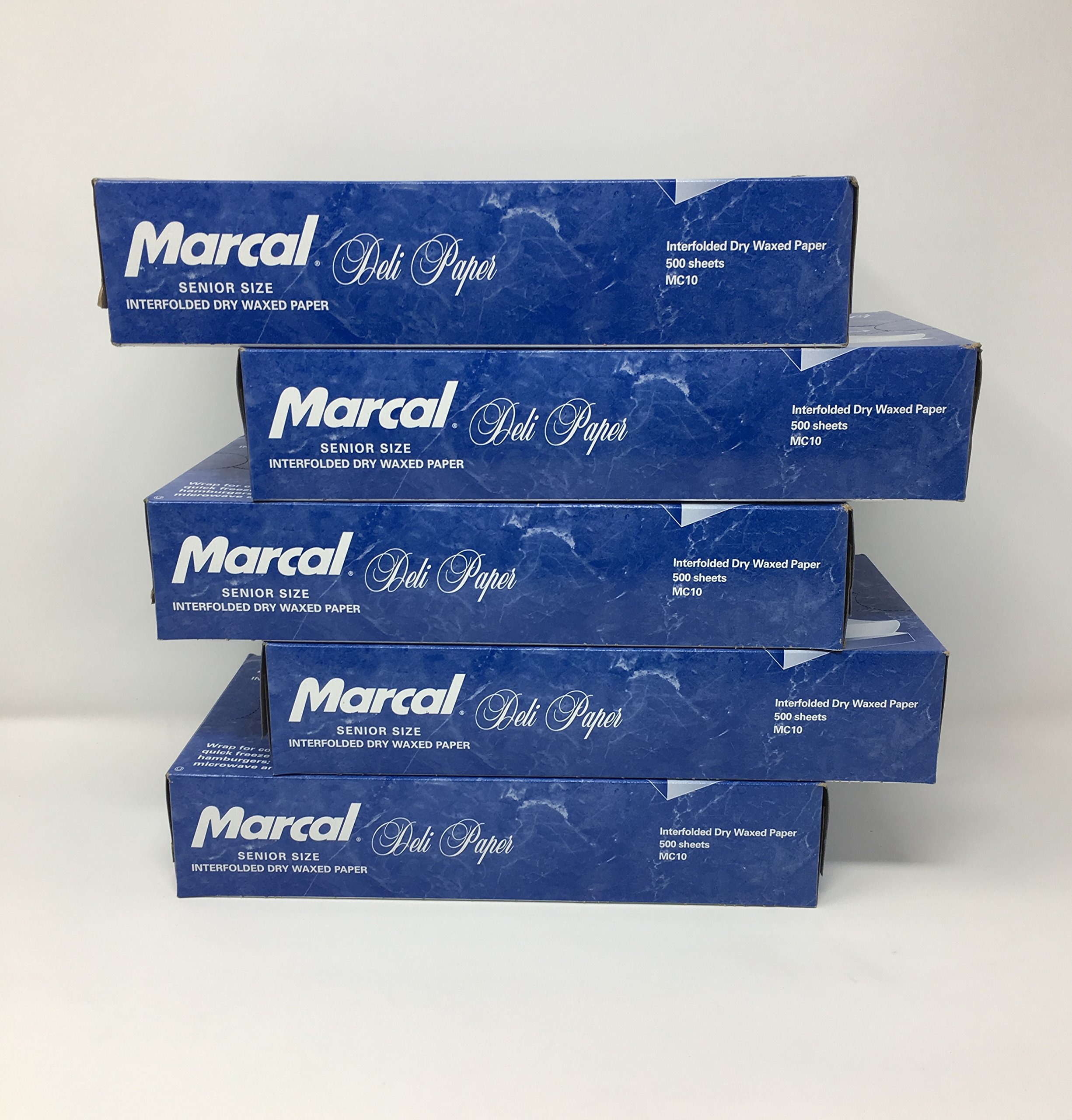 Marcal Deli Wrap Interfolded Wax Paper. Dry Waxed Food Liner Senior Size 10 Inch by 10.75 Inch. Total of 2500 Sheets. (5 Packs of 500 Sheets) by Marcal Co. (Image #4)