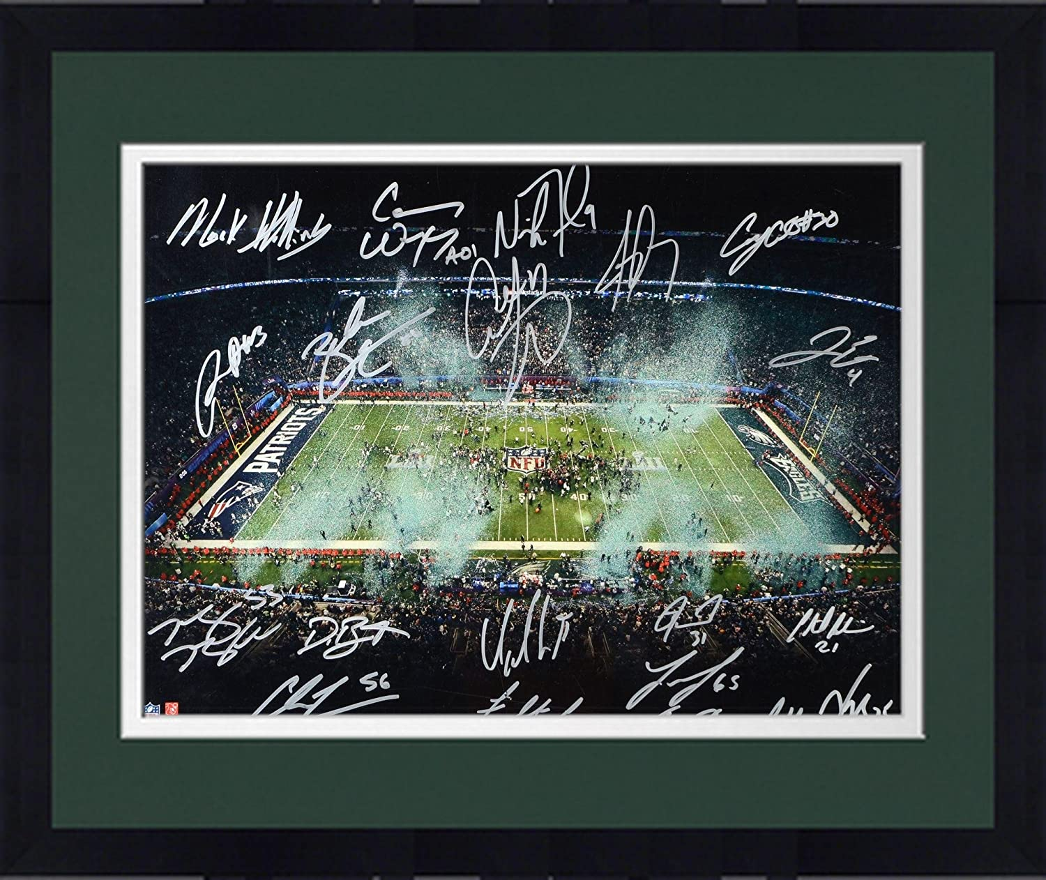 Fanatics Authentic Certified Framed Philadelphia Eagles Autographed 16 x 20 Super Bowl LII Champions Photograph with Multiple Signatures