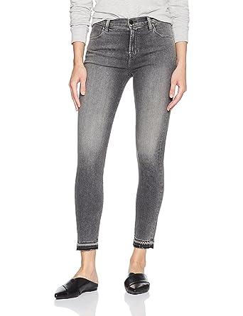 Alana Recadrée Jeans Skinny Grande Hauteur - Gris Marque J mXf48P
