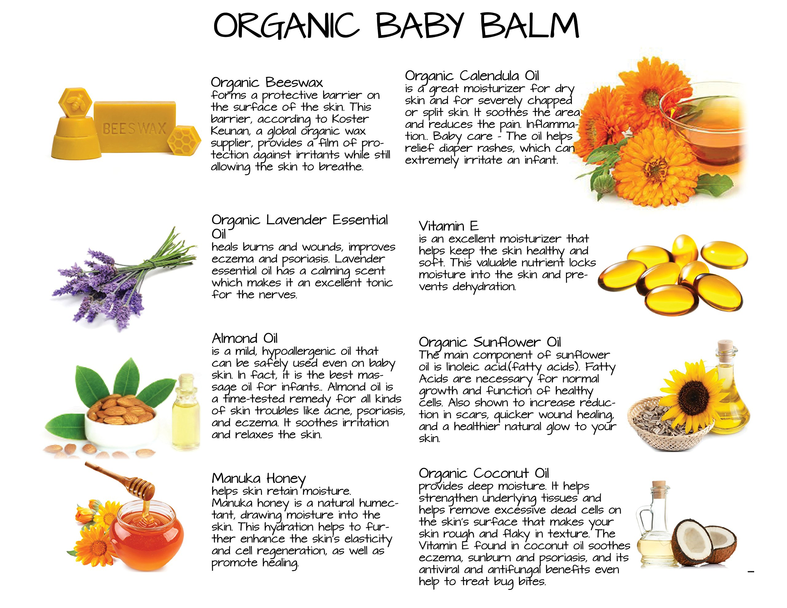 Calendula Ointment Baby Balm for Diaper Rash, Chapped Skin, Eczema, Cradle Cap and More - Soothing Organic Ingredients