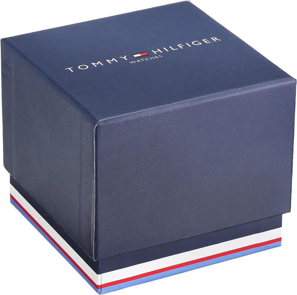Tommy Hilfiger Men Plastic and Rubber Casual Watch Quartz Strap Blue Model 1791325