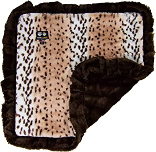 product image for BESSIE AND BARNIE Ultra Plush Godiva Brown/Aspen Snow Leopard Luxury Dog/Pet Blanket
