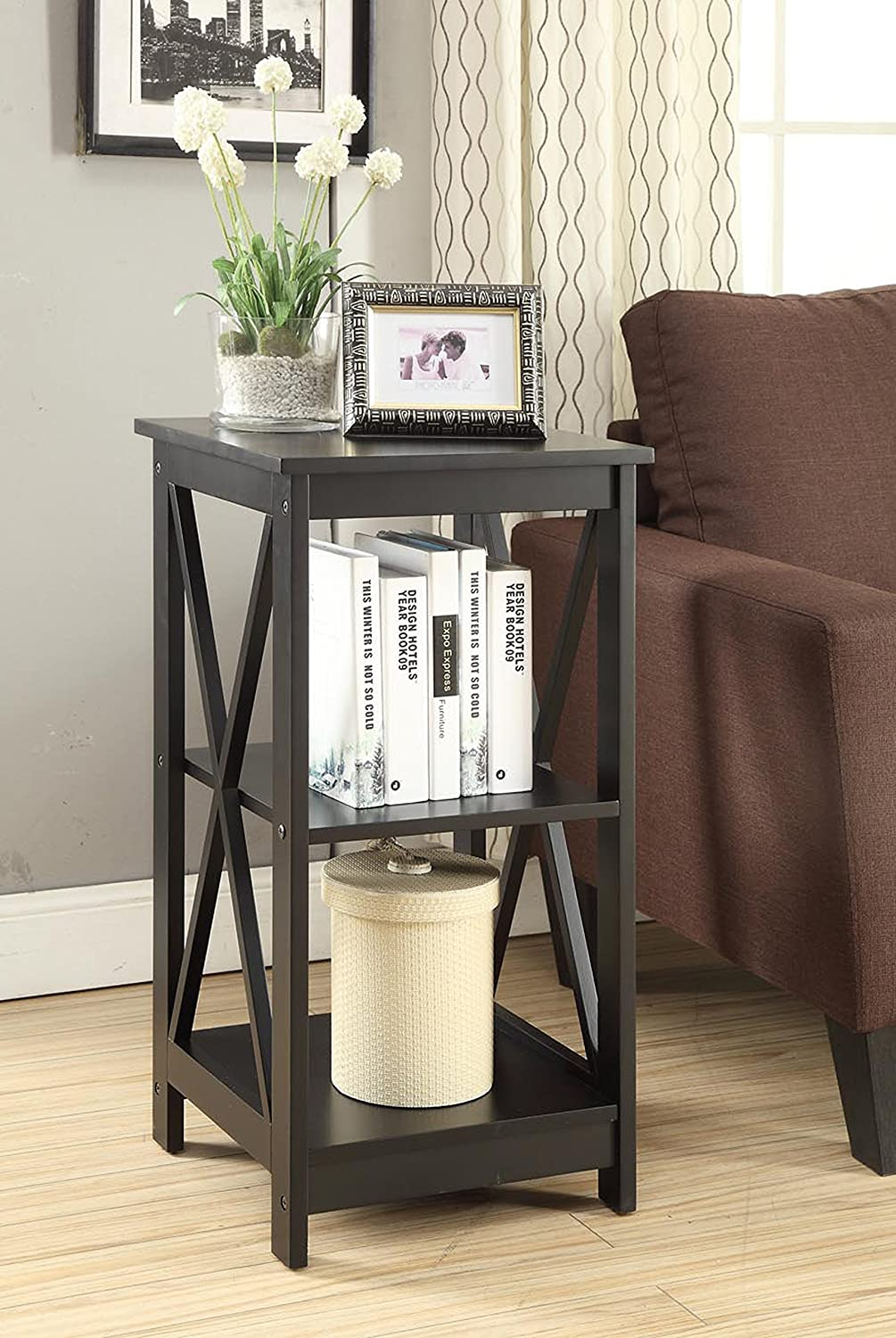 Amazon.com: Convenience Concepts Oxford End Table, Black: Kitchen U0026 Dining