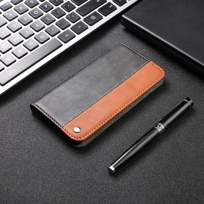FNBK Kompatibel mit H/ülle Samsung Galaxy A40 Handyh/ülle Leder Business Bookstyle Tasche Flip Wallet Case D/ünn Brieftasche Etui Weich TPU Klapph/ülle Kartenfach Magnet St/änder Schutzh/ülle,Rot