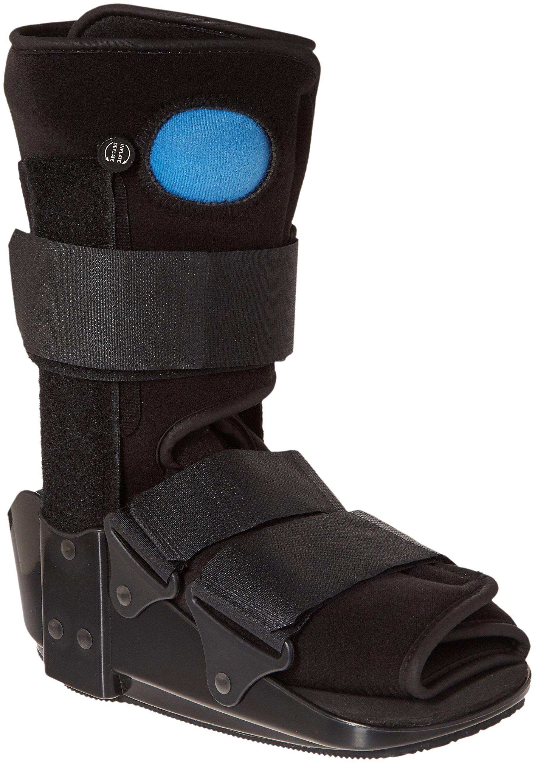 OTC Short Leg Adjustable Air Cast Low Top Walker Boot, Black, Small by OTC
