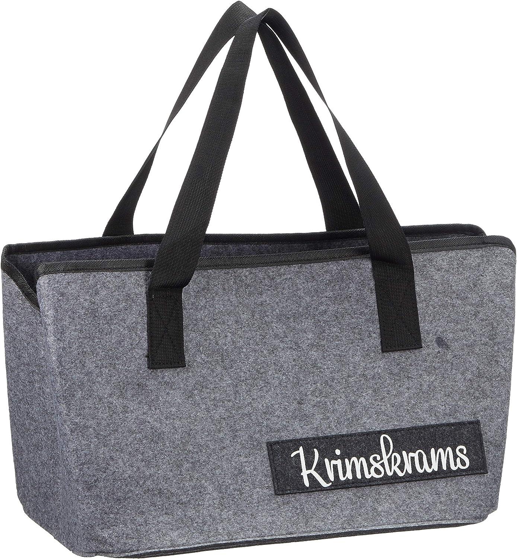 Negro cesta de fieltro plegable bolsa para le/ña bolsa de la compra Bolsa de fieltro con frases divertidas para le/ña de chimenea cesta para peri/ódicos