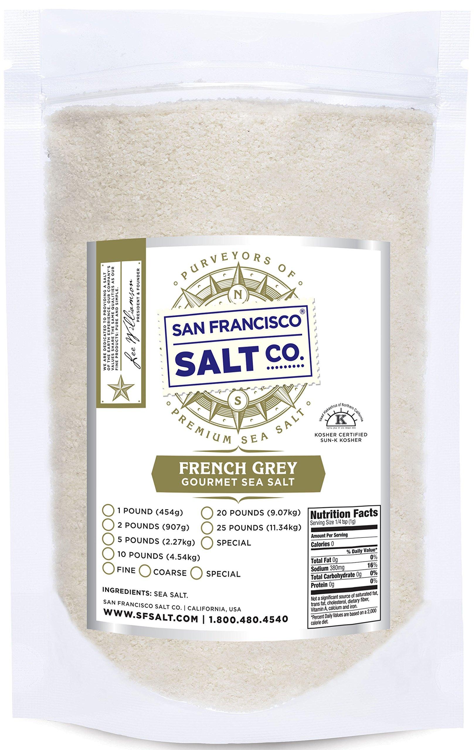 French Grey Sea Salt 10 lb. Bag Fine Grain - Sel Gris by San Francisco Salt Company