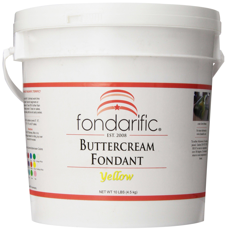 Fondarific Buttercream Yellow Fondant, 10-Pounds