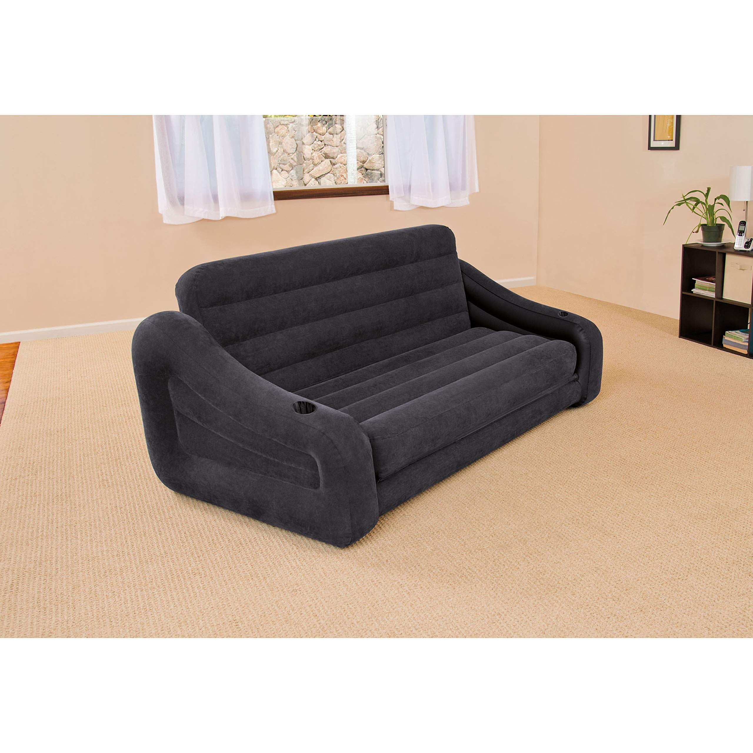 Intex Pull-out Sofa Inflatable Bed, 76'' X 87'' X 26'', Queen by Intex