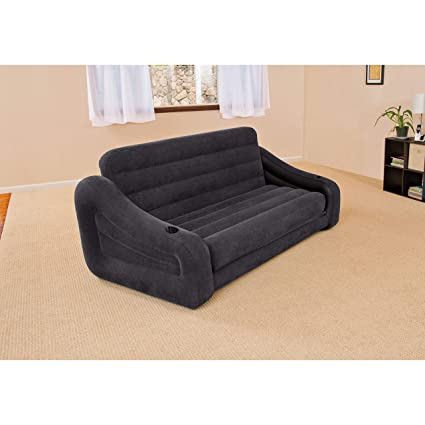 Pleasant Intex Pull Out Sofa Inflatable Bed 76 X 87 X 26 Queen Alphanode Cool Chair Designs And Ideas Alphanodeonline