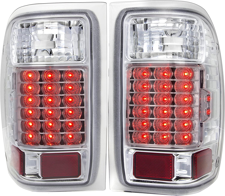 FOR 07-14 GMC SIERRA BLACK HOUSING 3D LED C-SHAPE TAIL LIGHT BRAKE LAMPS LH+RH