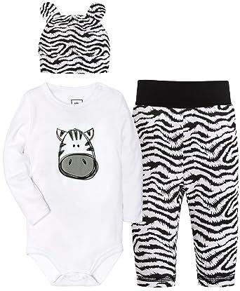 f53605731 Amazon.com  BUNNY MINI Baby Boys Girls  Bodysuits 3 Pack Long Sleeve ...