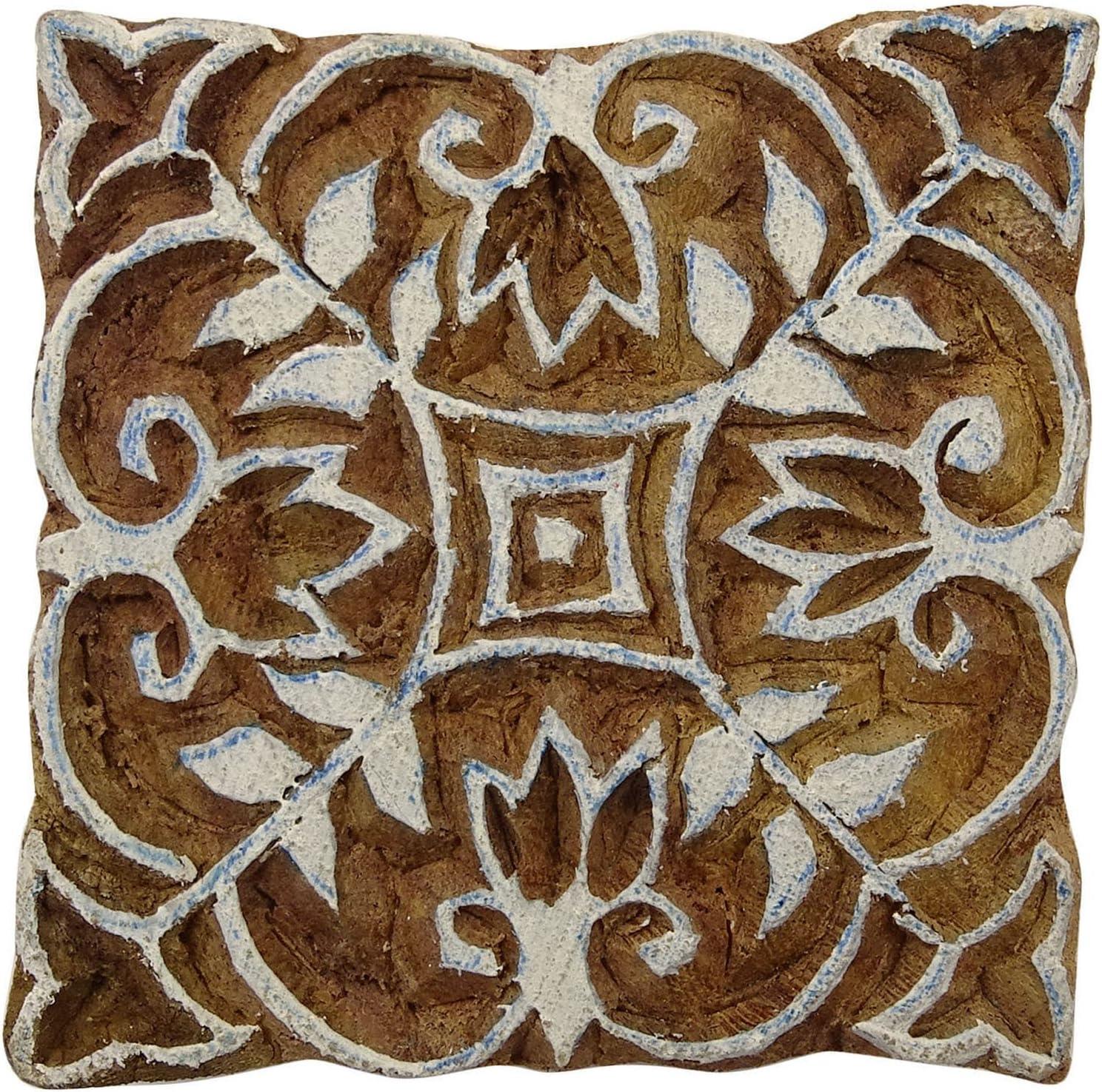 Indianbeautifulart Floral Stamp Textile Stamp Indian Braun Holz Briefmarken Hand Craved Drucktype