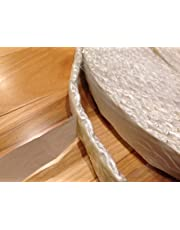"Adhesive Backed Wood Stove Door Gasket, Fiberglass Rope Seal. Flat 1/4"" x 1"" wide x 10 ft. roll"