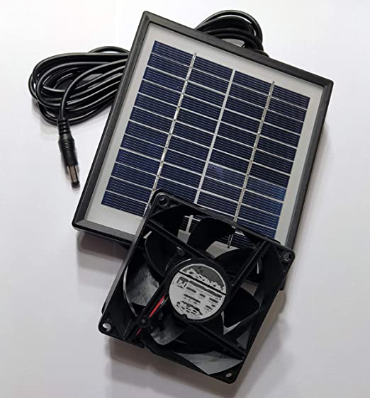 Doble Ventilador de invernadero Ventilador solar