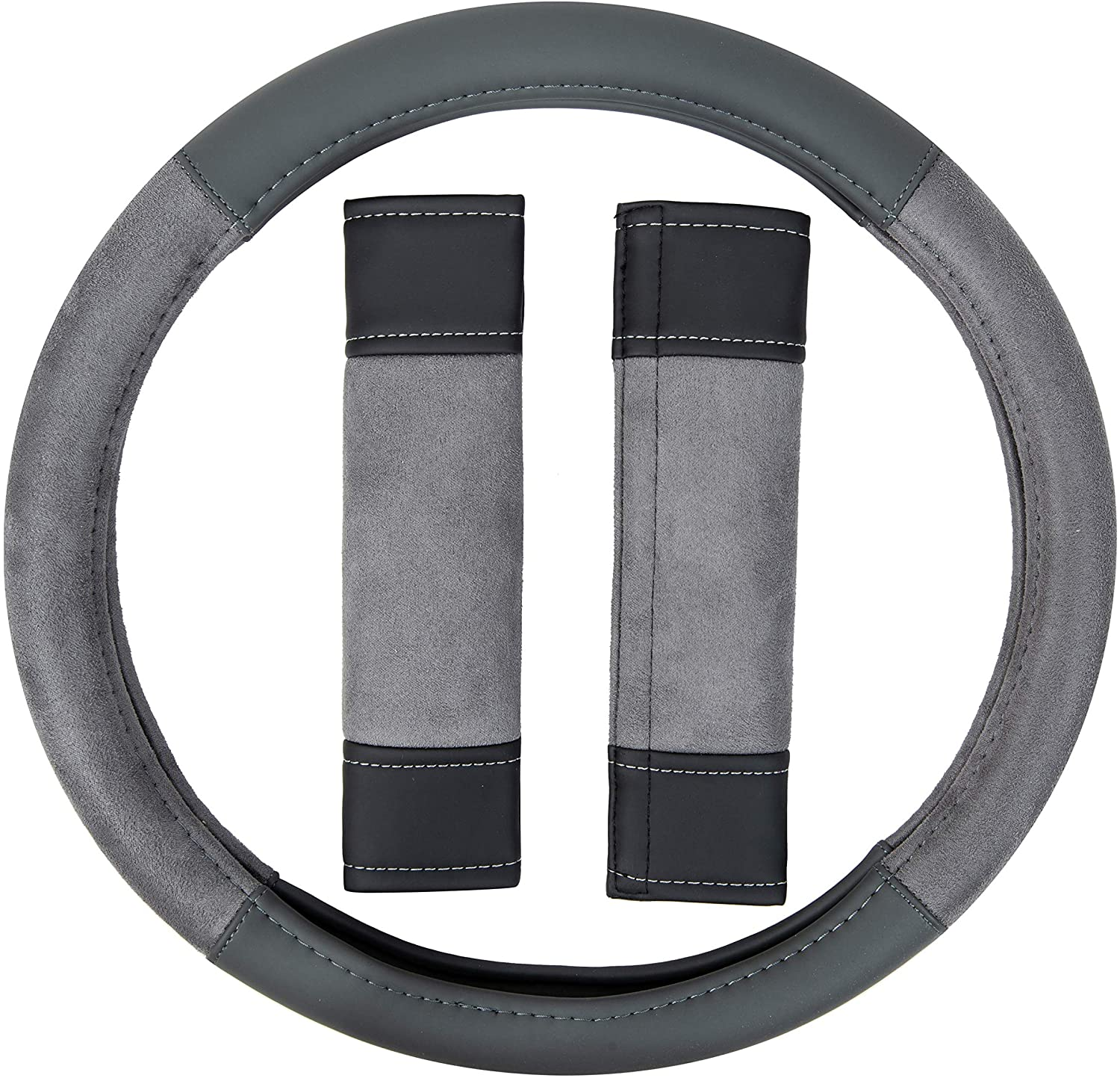 Basics Leatherette Steering Wheel Cover 15/″ Black 38.1 cm