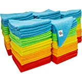 S&T INC. Microfiber Cleaning Cloths, Reusable and Lint Free Cloth Towels for Home, Kitchen and Auto, Assorted Color, 11.5 Inc