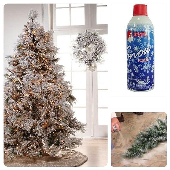 Amazon.com: Santa Snow Spray Christmas Artificial Can 9 Oz Aerosol ...