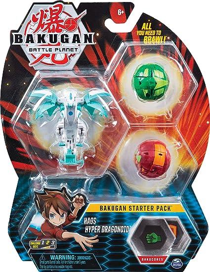 Bakugan 6058563 Jouet Enfant à Collectionner Starter Pack Modèle Haos Hyper Dragonoid