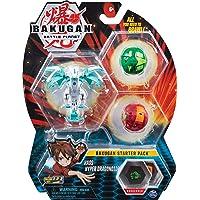 Bakugan Starter Pack, 2 clásicos y 1 Ultra. Pro Dragonoid Blanco, Mantis Verde y Scorpion Rojo.