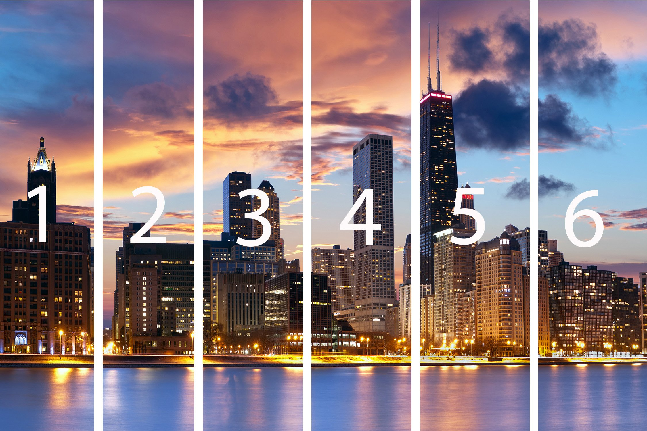 Photo Wall Mural Chicago Skyline Wall Art Decor Photo Wallpaper Poster Print by Premium Wall Murals (Image #3)