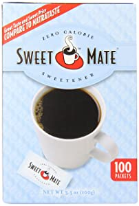 SWEETMATE Sweetener, Blue, Sugar Substitute, Zero Calorie Sugar Substitute Sweetener Packets, 100 Count (Pack of 12)