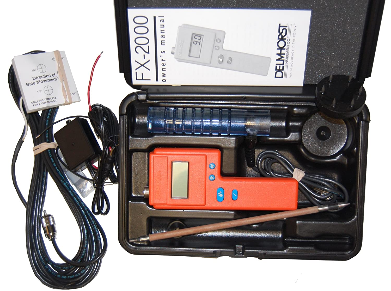 Delmhorst FX-2000 Hay Moisture Meter Tester, 10 inch Probe Deluxe Package by Delmhorst B004H4QLAI